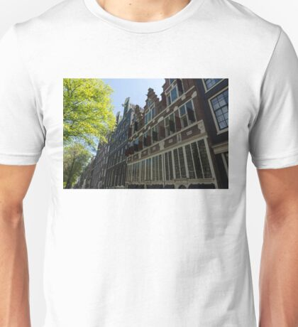 Amsterdam Spring - Elegant Facades Since Year 1642 - Left Unisex T-Shirt