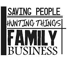 Family Business. Photographic Print