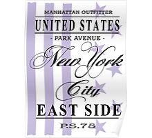 New York City - USA Vintage Flag Poster