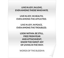 Words of the Buddha Poster