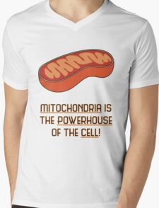 Mitochondria is the Powerhouse of the Cell Mens V-Neck T-Shirt