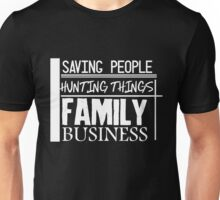 Family Business. (White version) Unisex T-Shirt