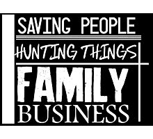 Family Business. (White version) Photographic Print