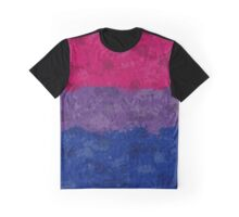 Bisexual Paint Splatter Flag Graphic T-Shirt