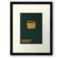 Memories Stay, People Don't Corporate Start-Up Quotes Framed Print
