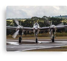 Silver P-38 Lightning Canvas Print