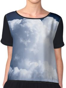 A Whipped Cream Cloud floating Chiffon Top