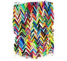 colorfull chevrons Photographic Print