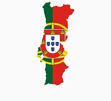 Flag Map of Portugal  Unisex T-Shirt