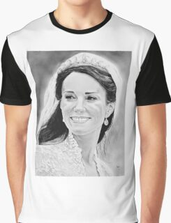 """""""Kate Middleton"""" on her wedding day Graphic T-Shirt"""