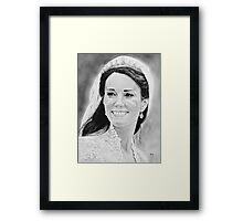 """Kate Middleton"" on her wedding day Framed Print"