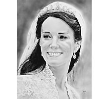 """""""Kate Middleton"""" on her wedding day Photographic Print"""