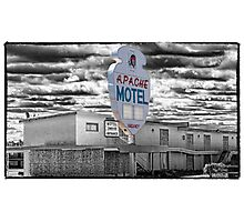 Route 66 - Apache Motel Photographic Print