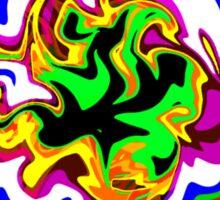 Dizzy Swirly Fractal Abstract Sticker
