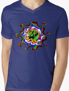 Dizzy Swirly Fractal Abstract Mens V-Neck T-Shirt