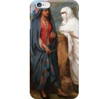 JEAN-RAYMOND-HIPPOLYTE LAZERGES ; WOMEN CHATTING iPhone Case/Skin