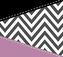 Zigzag Pattern, Chevron Pattern - Gray Purple Black by sitnica
