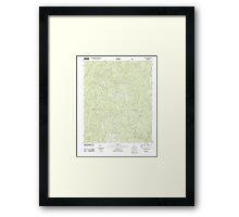 USGS TOPO Map Alabama AL Grayson 20111013 TM Framed Print