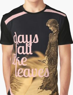 Days Fall like Leaves book sculpture logo Graphic T-Shirt