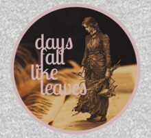 Days Fall like Leaves book sculpture logo One Piece - Short Sleeve