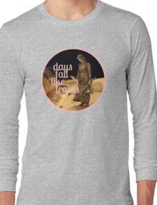 Days Fall like Leaves book sculpture logo Long Sleeve T-Shirt