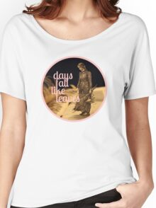 Days Fall like Leaves book sculpture logo Women's Relaxed Fit T-Shirt