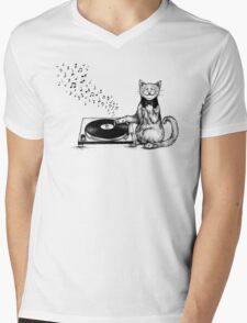 Music Master Mens V-Neck T-Shirt