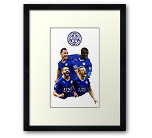 Leicester City Squad  Framed Print
