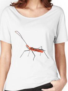Walking Assassin Bug Wheel Bug With Dagger Macro Close-up Women's Relaxed Fit T-Shirt
