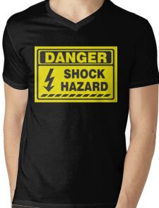Danger Shock Hazard Mens V-Neck T-Shirt