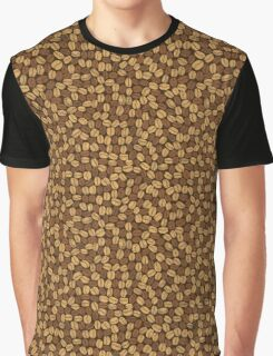 Golden and brown coffee beans Graphic T-Shirt