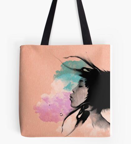 Psychedelic Blow Japanese Girl Dream Tote Bag
