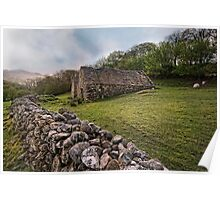 Old Barns - Snowdonia Poster