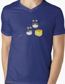 Cheese Lovers Mens V-Neck T-Shirt