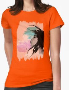 Psychedelic Blow Japanese Girl Dream Womens Fitted T-Shirt