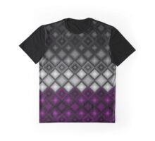 Asexual Flag 3-D Diamonds Pattern Graphic T-Shirt