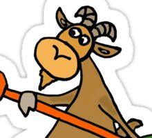 Cool Funny Kayaking Goat  Sticker