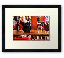 A Cowboy Bar Framed Print