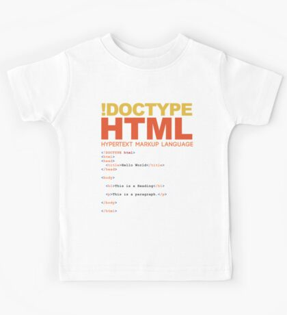 web design - HTML Kids Tee