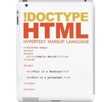 web design - HTML iPad Case/Skin