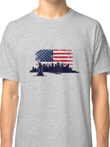USA Flag - Vintage Look Classic T-Shirt