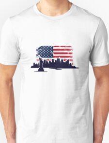 USA Flag - Vintage Look T-Shirt