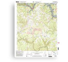 USGS TOPO Map Alabama AL Sunlight 305137 2000 24000 Canvas Print