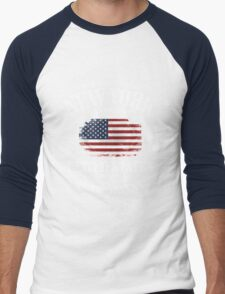 New York Skyline - USA Vintage Flag Men's Baseball ¾ T-Shirt