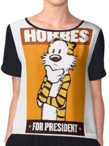 Hobbes For President Chiffon Top