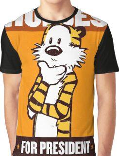 Hobbes For President Graphic T-Shirt