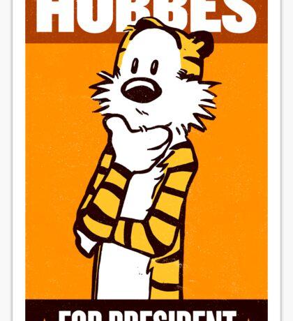 Hobbes For President Sticker