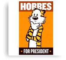 Hobbes For President Canvas Print