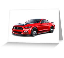 Ford Mustang GT 2015 Greeting Card