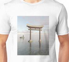 Japanese Floating Torii Gate at a Shinto Shrine Unisex T-Shirt